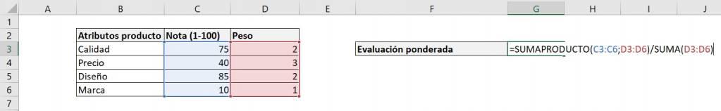 Excel excel calcular promedio ponderado fórmula ejemplos final alternativo